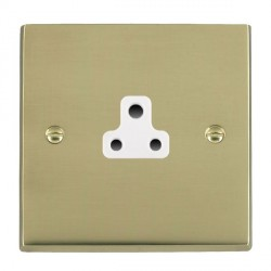 Hamilton Cheriton Victorian Polished Brass 1 Gang 2A Unswitched Socket with White Insert