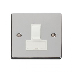 Click Deco Victorian Polished Chrome 13A Fused Switched Connection Unit with White Insert