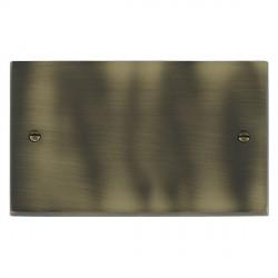 Hamilton Cheriton Victorian Antique Brass Double Blank Plate