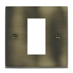 Hamilton Victorian EuroFix Plates Antique Brass Single Plate c/w 1 EuroFix Apertures + Grid