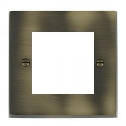 Hamilton Victorian EuroFix Plates Antique Brass Single Plate c/w 2 EuroFix Apertures + Grid