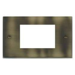 Hamilton Victorian EuroFix Plates Antique Brass Double Plate c/w 3 EuroFix Apertures + Grid