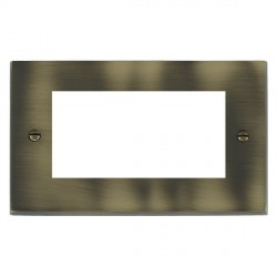 Hamilton Victorian EuroFix Plates Antique Brass Double Plate c/w 4 EuroFix Apertures + Grid