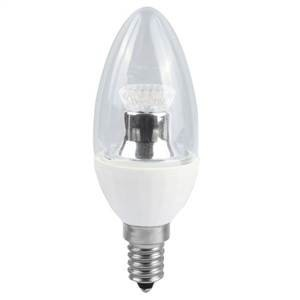 Bell Lighting 4W Warm White Dimmable E14 Clear LED Candle Bulb