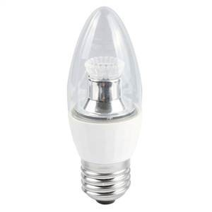 Bell Lighting 4W Warm White Dimmable E27 Clear LED Candle Bulb