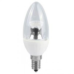 Bell Lighting 4W Cool White Dimmable E14 Clear LED Candle Bulb