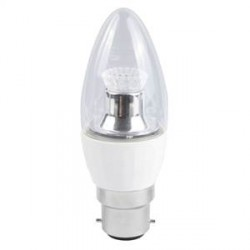 Bell Lighting 4W Cool White Dimmable B22 Clear LED Candle Bulb