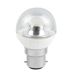 Bell Lighting 4W Cool White Dimmable B22 Clear LED Golf Ball Bulb