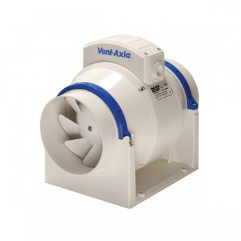 Vent-Axia 17108020A ACM200T Commercial In-Line 200 mm Mixed Flow Fan with Timer