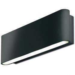 Aurora Lighting AU-WAL511BLK 240V Aluminium IP54 Fixed LED Wall Light
