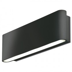 Aurora Lighting AU-WAL512BLK 240V Aluminium IP54 Fixed Up/Down LED Wall Light