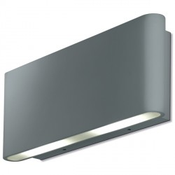 Aurora Lighting AU-WAL512SS 240V Aluminium IP54 Fixed Up/Down LED Wall Light