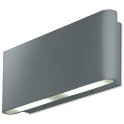 Aurora Lighting AU-WAL512SS 240V Aluminium IP54 Fixed Up/Down LED Wall Light
