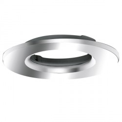 Aurora Lighting AU-BZ801PC Fixed 90mm Universal Aluminium Downlight Bezel Accessory in Polished Chrome