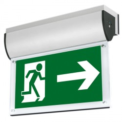 Aurora Lighting AU-EMLED22 240V Aluminium Flush Wall Mounted LED Emergency Exit Sign