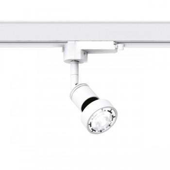spotlight track lighting. Aurora Lighting AU-TMTS26W 240V GU10 Adjustable 50W Spotlight Three Circuit Track In White