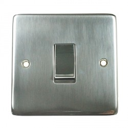 Eurolite Stainless Steel Satin Stainless 1 Gang 10amp 2way Switch with Matching Insert