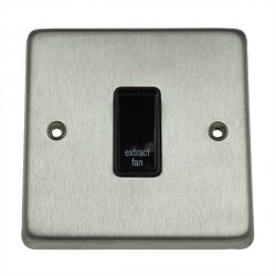 Eurolite Stainless Steel Satin Stainless 1 Gang 20amp DP Engraved Appliance Switch with Black Insert