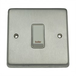 Eurolite Stainless Steel Satin Stainless 1 Gang 20amp DP Engraved Appliance Switch with White Insert