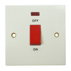 BG 45amp Double Pole Switch with Neon Indicator