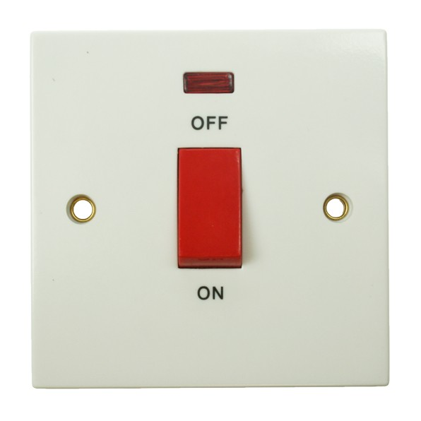 BG 45amp Double Pole Switch with Neon Indicator at UK Electrical ...