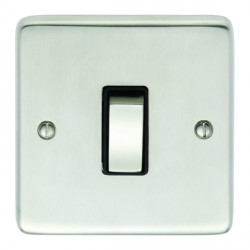 Eurolite Stainless Steel Satin Stainless 1 Gang Intermediate Switch with Matching Insert