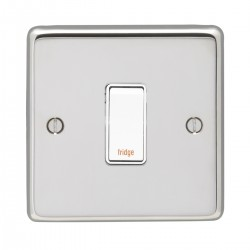 Eurolite Stainless Steel Polished Stainless 1 Gang 20amp DP Engraved Appliance Switch with White Insert