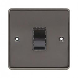Eurolite Stainless Steel Black Nickel 1 Gang Intermediate Switch with Matching Insert