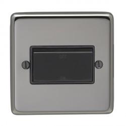 Eurolite Stainless Steel Black Nickel 1 Gang Triple Pole Fan Isolator Switch with Black Insert