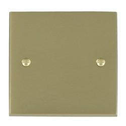 Hamilton Cheriton Victorian Satin Brass Single Blank Plate