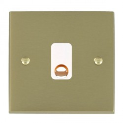Hamilton Cheriton Victorian Satin Brass 20A Cable Outlet with White Insert
