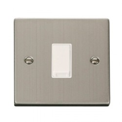 Click Deco Victorian Stainless Steel Single Intermediate Switch