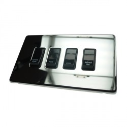 Eurolite Concealed Fix Flat Plate Polished Chrome 1 Gang 20amp DP ...