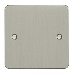 Eurolite Enhance Flat Plate Satin Stainless 1 Gang Blank Plate