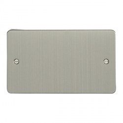 Eurolite Enhance Flat Plate Satin Stainless 2 Gang Blank Plate