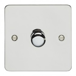 Eurolite Enhance Flat Plate Polished Stainless 1 Gang 400W Dimmer Switch with Matching Knob