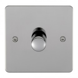 Eurolite Enhance Flat Plate Polished Stainless 1 Gang 250W LED Dimmer Switch with Matching Knob