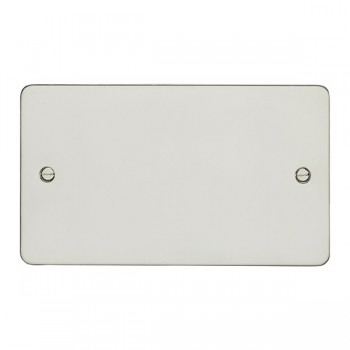 Eurolite Enhance Flat Plate Polished Stainless 2 Gang Blank Plate