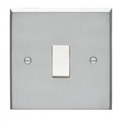 Eurolite Victorian Satin Chrome 1 Gang 20amp DP Switch with White Insert