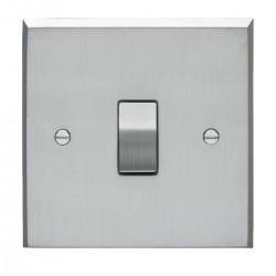 Eurolite Victorian Satin Chrome 1 Gang 20amp DP Switch with Matching Insert