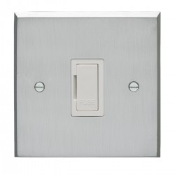 Eurolite Victorian Satin Chrome 13amp Unswitched Fuse Spur with White Insert