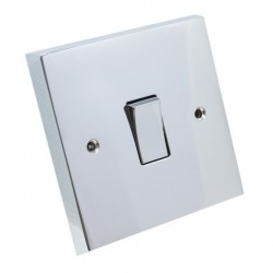 Eurolite Victorian Polished Chrome 1 Gang Intermediate Switch with Matching Insert