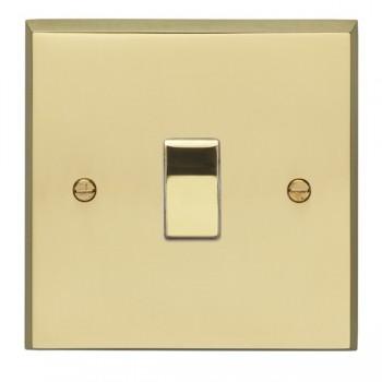 Eurolite Victorian Polished Brass 1 Gang 10amp 2way Switch with Matching Insert