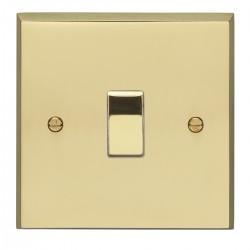 Eurolite Victorian Polished Brass 1 Gang Intermediate Switch with Matching Insert