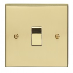 Eurolite Victorian Polished Brass 1 Gang 20amp DP Switch with Matching Insert