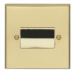 Eurolite Victorian Polished Brass 1 Gang Triple Pole Fan Isolator Switch with Matching Insert