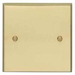 Eurolite Victorian Polished Brass 1 Gang Blank Plate