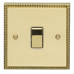 Eurolite Georgian Polished Brass 1 Gang 10amp 2way Switch with Matching Insert