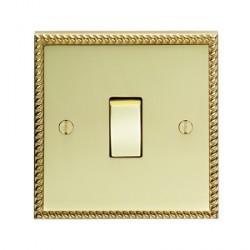 Eurolite Georgian Polished Brass 1 Gang Intermediate Switch with Matching Insert