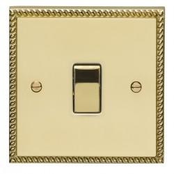 Eurolite Georgian Polished Brass 1 Gang 20amp DP Switch with Matching Insert